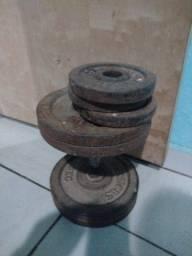 Alteres academia 32 kg cada lado