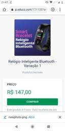 Relógio Inteligente Bluetooth link da compra na discrição