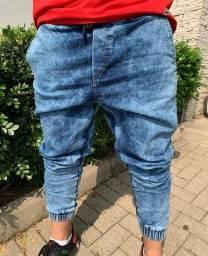Calça jeans jogger e tradicional