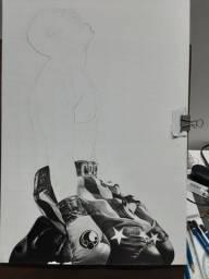 Desenho em andamento- Adônis Creed