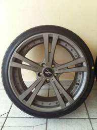 """Vdo/tco rodas 19"""" c/ pneus novos Pra vender logo"""
