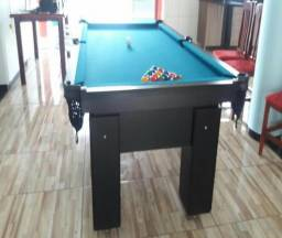 Mesa com 4 Pés Cor Preta Tecido Azul Mod. LCAP2812