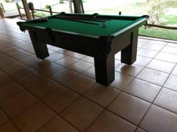 Mesa de Bilhar Cor Preta Tecido Verde Mod. UPEA6356
