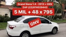 Grand Siena 1.4 - 2013 + GNV _ Completo _ 5 MIL DE ENTRADA - 2013