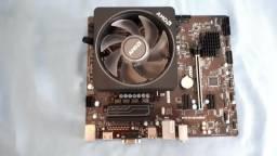 Processador Amd Ryzen 7 1800x e Placa-Mãe MSI B350M Pro-VH Plus, AM4, mATX, DDR4