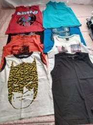 8 camiseta regata tamanho 6 usada