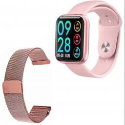 Relógio Smartwatch P80 Rose
