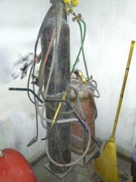 Solda oxigênio completa com carrinho