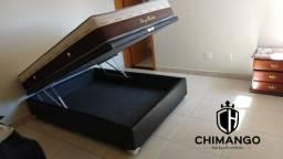 = Cama Box Bau + Colchão ortosleep casal 138x188 25cm de altura mega promoção