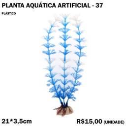 Planta de Aquário Artificial Azul com Branco
