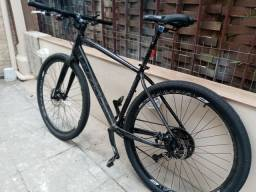 Bicicleta MTB 29 rígida relação 1X11V alumínio aro 29 freio a disco TAM 19 MTB