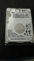 HD slim de 500 gb (novo)