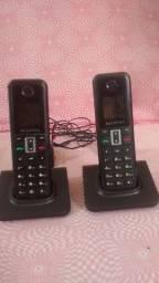 3 telefones de mesa e sem fio