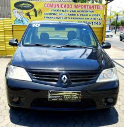 Renault Logan 1.0 Expression, completo + GNV. Confira!