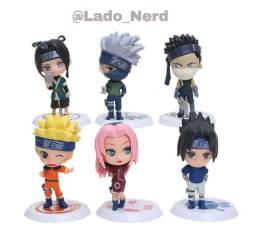 12 bonecos de Naruto, todos em ótimo acabamento.