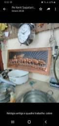 Relogio mecânico / trabalho em cobre