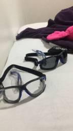 Óculos proteção 3M com corda elastica regulável para melhor conforto.
