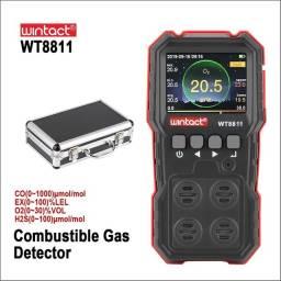 Monitor De Monóxido De Carbono 4 Em 1 Wintact Wt8811