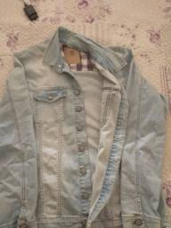 Jaqueta jeans usada 1 vez, tamanho G