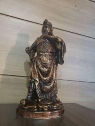 Escultura Guerreiro chinês - Envelhecido- 39 cm