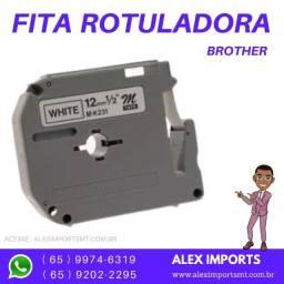 Fita para Rotulador Brother M231Cor Branca 12 por 8