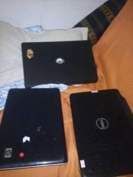 3 Notbooks para retirada de peças