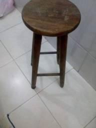 Banco madeira e Cadeira