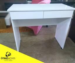 Escrivaninha branca nova com 2 gavetas R$:220,00