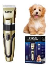 Título do anúncio: Máquina Tosa Kemei Km 1053 Pet Animais Cães Gatos Profissional - Loja Natan Abreu