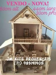 Vendo - Nova - Casinha de Boneca em MDF Crú