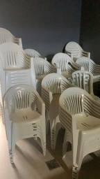 Cadeiras de plástico brancas poltronas