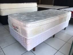 CAMA BOX SOLTEIRO COM GAVETAS