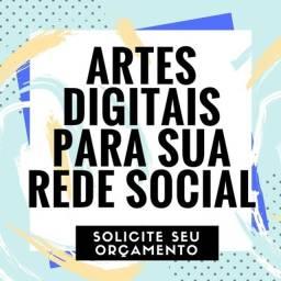 Criação de arte para redes sociais