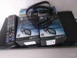 Título do anúncio: Blu-ray 3D Samsung + 4 óculos 3D Samsung