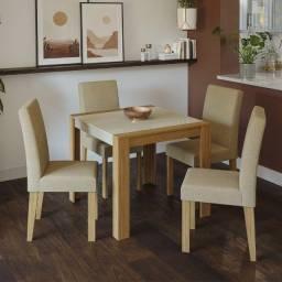 Título do anúncio: Mesa Grace 0,90x0,90m  4 Cadeiras  - Entrega Rápida