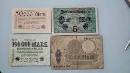 Cédulas Alemanha, Iugoslavia e Índia