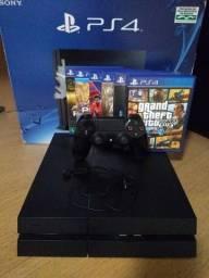 Título do anúncio: PS4 Playstation 4 FAT 500GB + 6 jogos (não faço trocas)