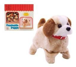 Cachorro Pula, Late E Dá Cambalhotas Brinquedo De Pelúcia novo