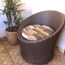 Mesas cadeiras vasos fibra