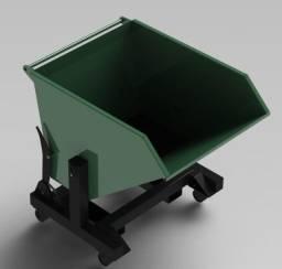 Caçamba basculante para resíduos industriais