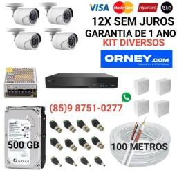 Título do anúncio: Câmeras... kit de 4 câmeras DIVERSOS, em 12X SEM JUROS.