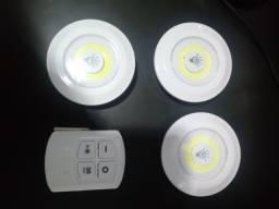 Título do anúncio: Kit 3 lampadas luminarias led com.controle semi nova