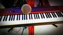Piano Stage Portátil (Teclado) Casio Privia P X A100 Vermelho