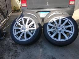Roda aro 17 pneus 70%