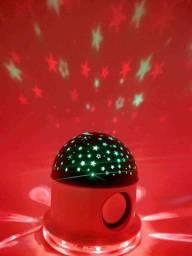 Abajur Luminária Céu Estrelado com Caixa de Som Bluetooth