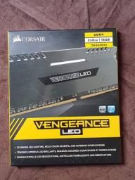 Memória Corsair Vengeance Led White 2x8gb Ddr4-2666 16gb Ddr4 C16