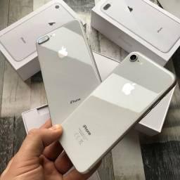 Título do anúncio: iPhone 8 plus Silver 64Gb *Vitrine*