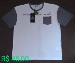Camisa Triton bolso branca Tam M/G (original / nova)