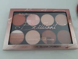 Paleta Blush Highlighter Powder Brilliant Ruby Rose nova