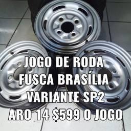 Roda aro 14 Fusca Brasília variante sp2. Disk entrega